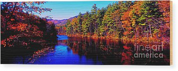 Wood Print featuring the photograph  White Mountians National Park Red Eagle Pond New Hampshire by Tom Jelen