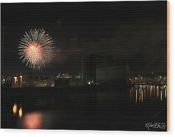 0015 ...the Bombs Bursting In Air...4jul13 Series Wood Print by Michael Frank Jr