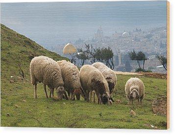 003 Jerusalem Wood Print by Alex Kolomoisky