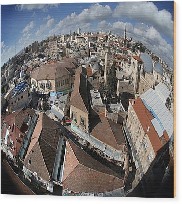 005 Globus Of Jerusalem Wood Print by Alex Kolomoisky