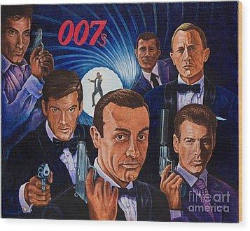007 Wood Print by Michael Frank