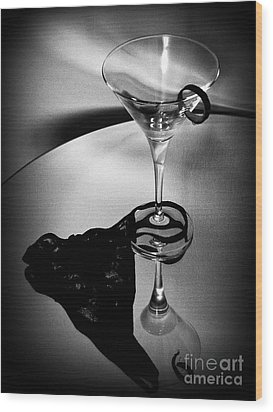 Martini Glass Charm Wood Print