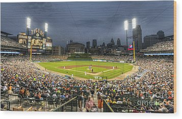 0101 Comerica Park - Detroit Michigan Wood Print