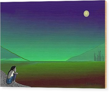 011 - Moon River Wood Print