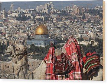 014 Jerusalem Wood Print by Alex Kolomoisky