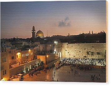 017 Jerusalem Wood Print by Alex Kolomoisky