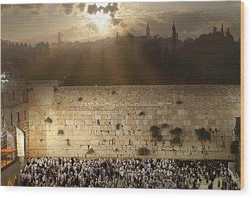 018 Jerusalem Wood Print by Alex Kolomoisky