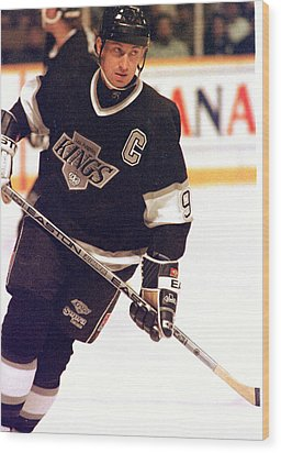 01.wayne Gretzky.la King.jpg Wood Print