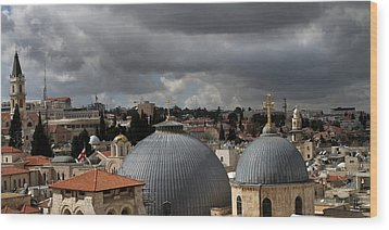 020 Jerusalem Wood Print by Alex Kolomoisky