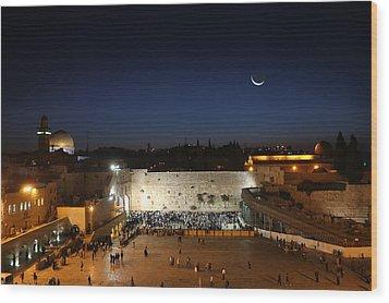 023 Jerusalem Wood Print by Alex Kolomoisky