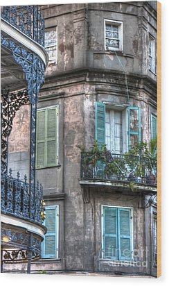 0254 French Quarter 10 - New Orleans Wood Print by Steve Sturgill