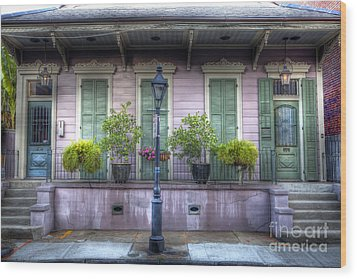 0267 French Quarter 5 - New Orleans Wood Print by Steve Sturgill