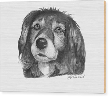 Wood Print featuring the drawing 027 - Miss Mindy by Abbey Noelle