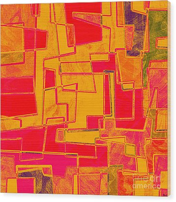 0275 Abstract Thought Wood Print by Chowdary V Arikatla