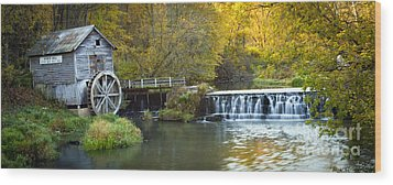 0291 Hyde's Mill Wisconsin Wood Print by Steve Sturgill