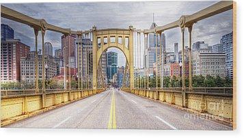 0305  Pittsburgh 10 Wood Print by Steve Sturgill