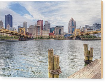 0310 Pittsburgh 3 Wood Print by Steve Sturgill