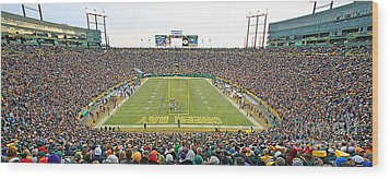 0349 Lambeau Field Panoramic Wood Print