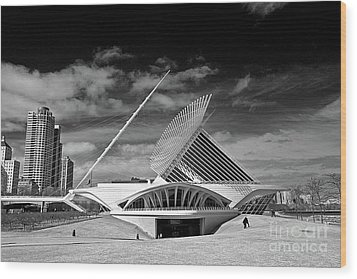 0352 Milwaukee Art Museum Infrared Wood Print by Steve Sturgill