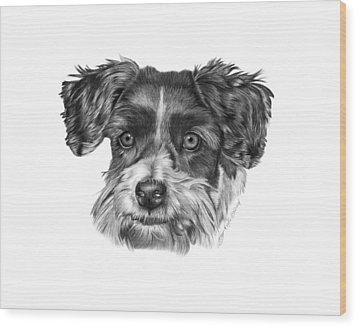 040 - Blue Wood Print by Abbey Noelle