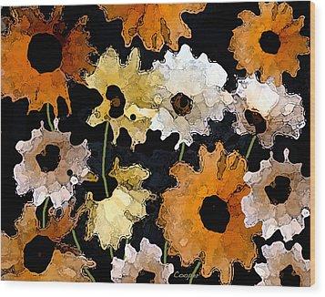 040 Daisies Wood Print