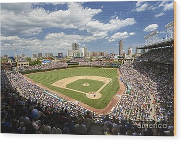 0415 Wrigley Field Chicago Wood Print by Steve Sturgill