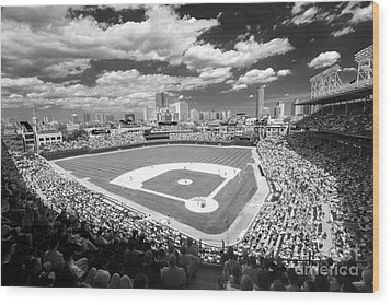 0416 Wrigley Field Chicago Wood Print by Steve Sturgill