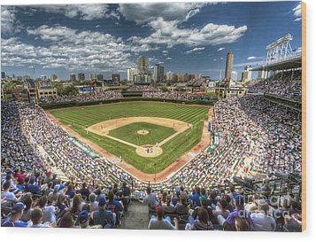 0443 Wrigley Field Chicago  Wood Print by Steve Sturgill