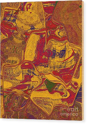 0518 Abstract Thought Wood Print by Chowdary V Arikatla
