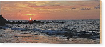 0581 Maui Sunset 2 Wood Print