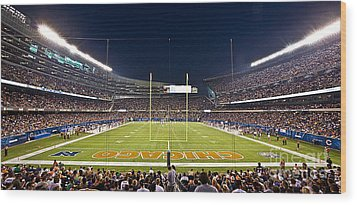 0587 Soldier Field Chicago Wood Print by Steve Sturgill
