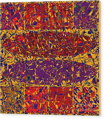 0688 Abstract Thought Wood Print by Chowdary V Arikatla
