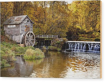 0722 Hyde's Mill Wood Print by Steve Sturgill