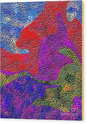 0732 Abstract Thought Wood Print by Chowdary V Arikatla
