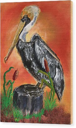 082914 Pelican Louisiana Pride Wood Print