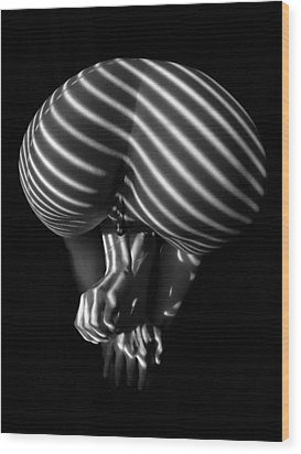 0850 Stripe Series   Wood Print by Chris Maher