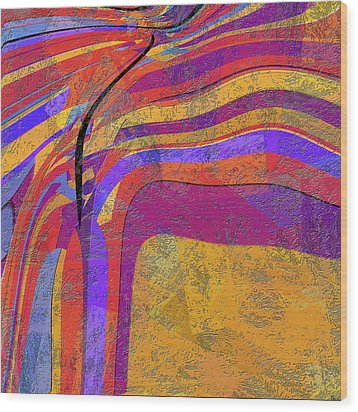 0871 Abstract Thought Wood Print by Chowdary V Arikatla