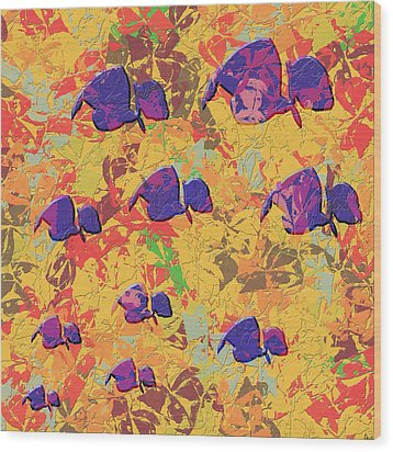 0886 Abstract Thought Wood Print by Chowdary V Arikatla