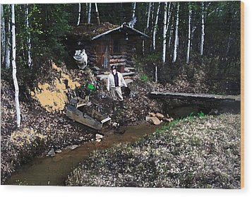 090814 Alaskan Gold Miner Wood Print