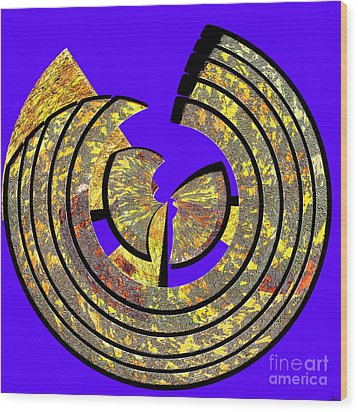 0985 Abstract Thought Wood Print by Chowdary V Arikatla