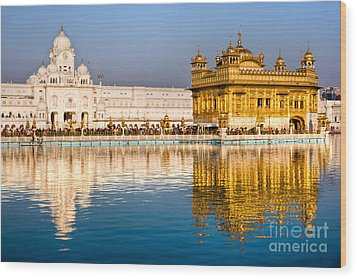 Golden Temple In Amritsar - Punjab - India Wood Print by Luciano Mortula