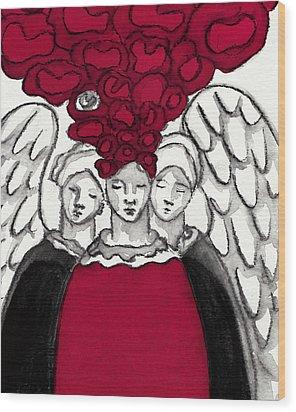 Keepers No 3 Wood Print by Milliande Demetriou