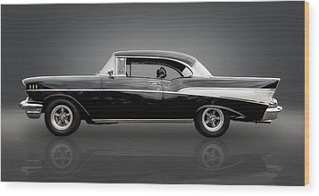 1957 Chevrolet Bel Air Wood Print