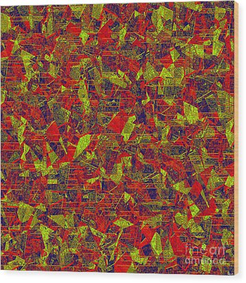 0196 Abstract Thought Wood Print by Chowdary V Arikatla