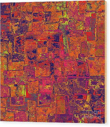 0295 Abstract Thought Wood Print by Chowdary V Arikatla