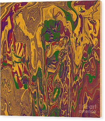 0478 Abstract Thought Wood Print by Chowdary V Arikatla