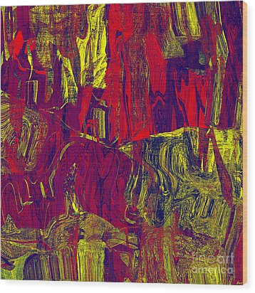 0479 Abstract Thought Wood Print by Chowdary V Arikatla