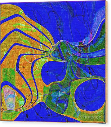 0565 Abstract Thought Wood Print by Chowdary V Arikatla