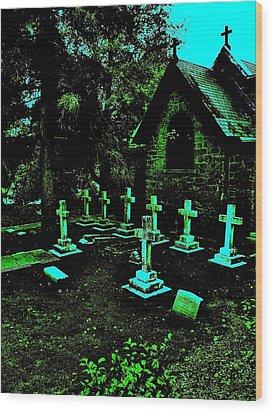 11 Crosses Wood Print