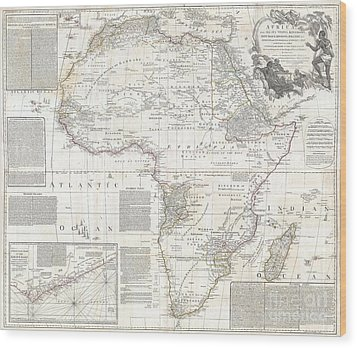 1794 Boulton And Anville Wall Map Of Africa Wood Print by Paul Fearn